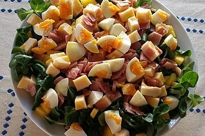 Fruchtiger Feldsalat mit Mango und Schinken 1