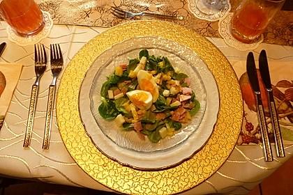 Fruchtiger Feldsalat mit Mango und Schinken 2