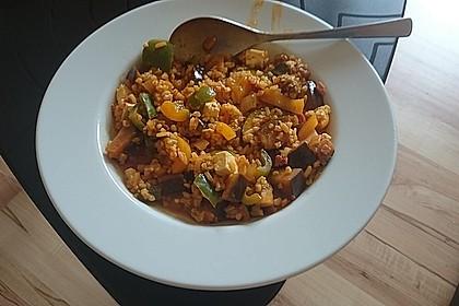 Bulgur-Gemüse-Pfanne mit Curry