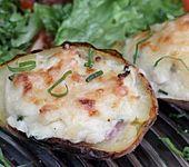 Doppelt gebackene Kartoffeln