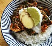 Indisches Chicken Saag - Hühnerbrustfilet mit Spinat