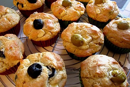 Feta - Oliven - Muffins 1