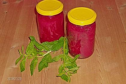 Erdbeermarmelade mit frischer Minze 4