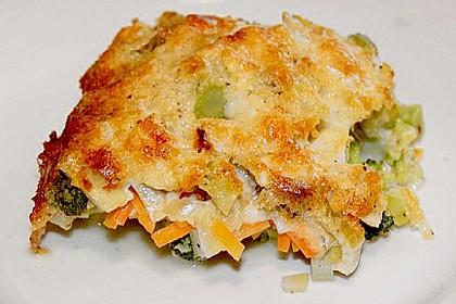 Brokkoli - Fenchel - Auflauf mit Kartoffeln