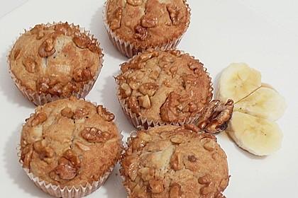 Bananenmuffins mit Walnuss - Topping 5