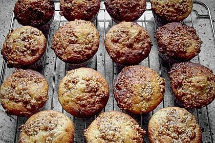 Bananenmuffins mit Walnuss - Topping 20