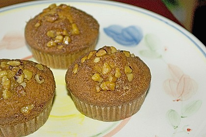 Bananenmuffins mit Walnuss - Topping 10