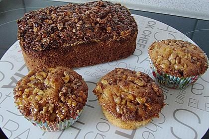 Bananenmuffins mit Walnuss - Topping 3