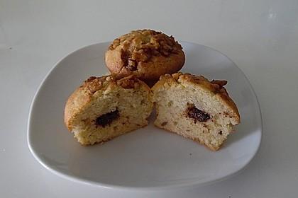 Bananenmuffins mit Walnuss - Topping 16
