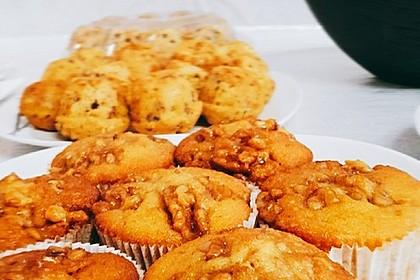 Bananenmuffins mit Walnuss - Topping 1