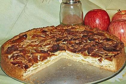 Apfelkuchen mit Marzipanguss 1