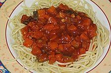Gemüse - Bolognese mit Spaghetti
