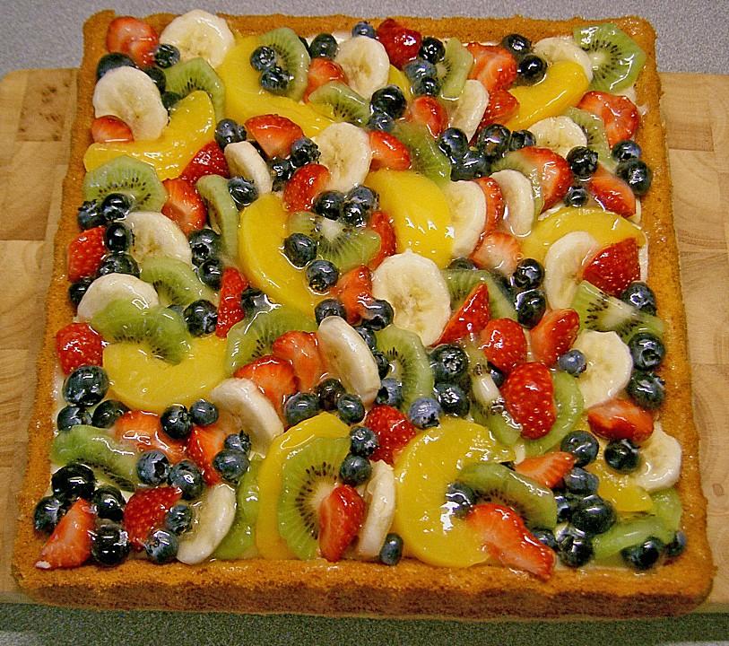 Schnelle Blechkuchen Rezepte Mit Bild: Der Schnelle Obstboden (Rezept Mit Bild) Von Lavandula