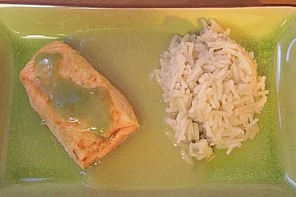 Wildlachs mit Wasabi, Apfelsauce und schwarzem Reis 2
