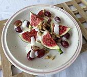 Feigen-Weintrauben-Dessert