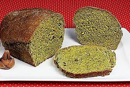 Grünes Spinatbrot 3