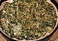 Quiche mit Spinat und vegetarischem Hackfleisch