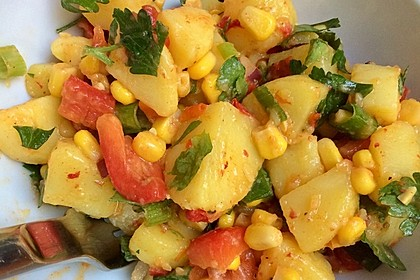 Türkischer Kartoffelsalat mit buntem Gemüsemix 4