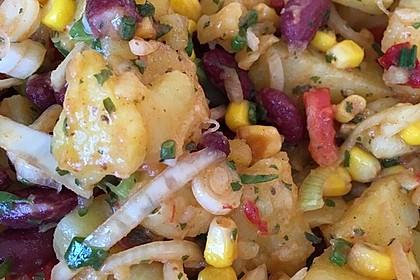 Türkischer Kartoffelsalat mit buntem Gemüsemix 7