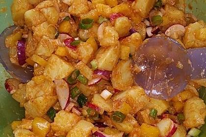Türkischer Kartoffelsalat mit buntem Gemüsemix 5