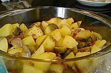 Gerösteter Rosenkohl mit Kartoffeln