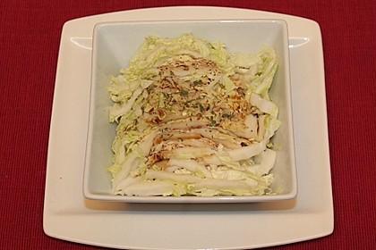 Salat aus Chinakohl mit Sojasauce 4