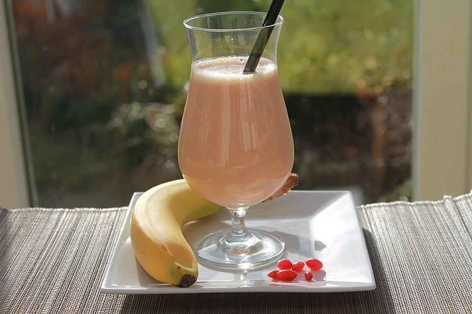 Gojibeeren bananen kirsch drink rezept mit bild for Cocktail kirsch