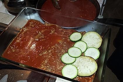 Schnelle Lasagne mit Fleisch und Gemüse