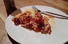 Vegetarische Lasagne mit frischem Gemüse
