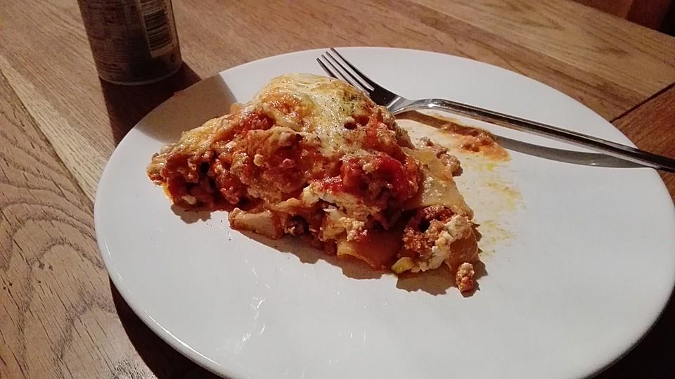 vegetarische lasagne mit frischem gem se rezept mit bild. Black Bedroom Furniture Sets. Home Design Ideas