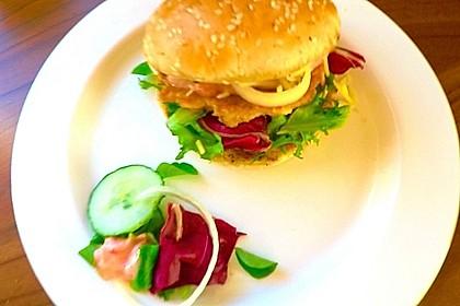 Tuna Burger mit MayoMarmeladen Soße, einfach lecker