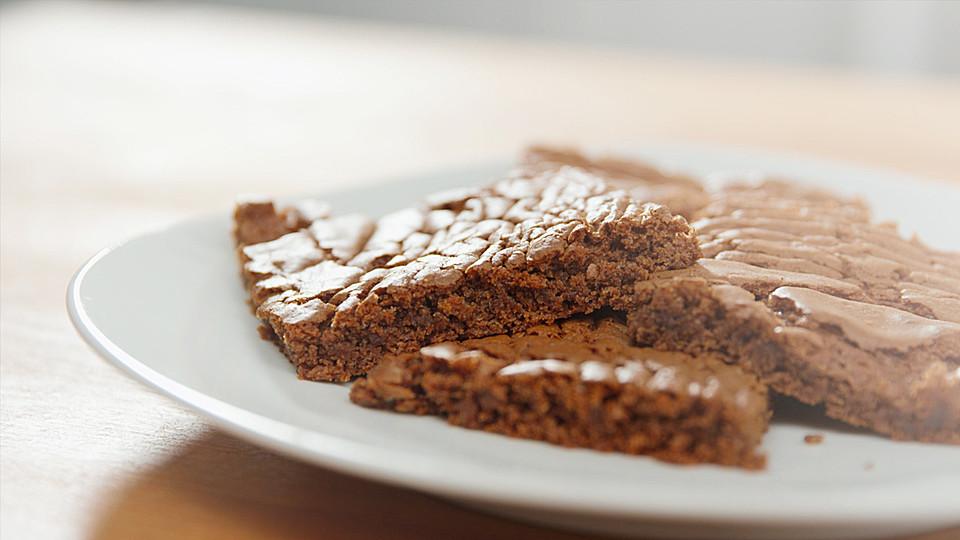 saftige chocolate brownies rezept mit bild von hannah kocht einfach. Black Bedroom Furniture Sets. Home Design Ideas