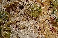 Bavette mit gebratenem Rosenkohl in Speck- Sahnesauce
