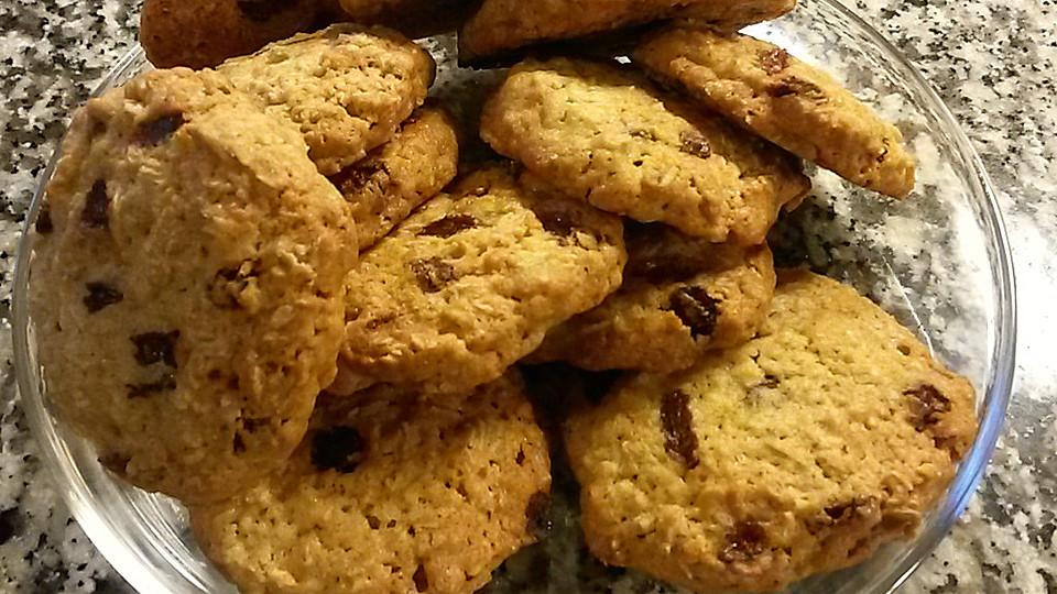 rosinen haferflocken cookies rezept mit bild von katharoline. Black Bedroom Furniture Sets. Home Design Ideas