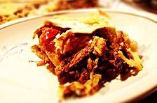 Tortilla-Lasagne mit Sauerkraut und Soja-Geschnetzeltem