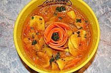 Kartoffelsuppe mit Curry, indische Art
