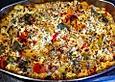 Vegetarisches Ofengemüse überbacken