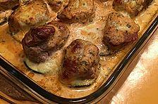 Schweinefilet mit Zucchini und Mozzarella