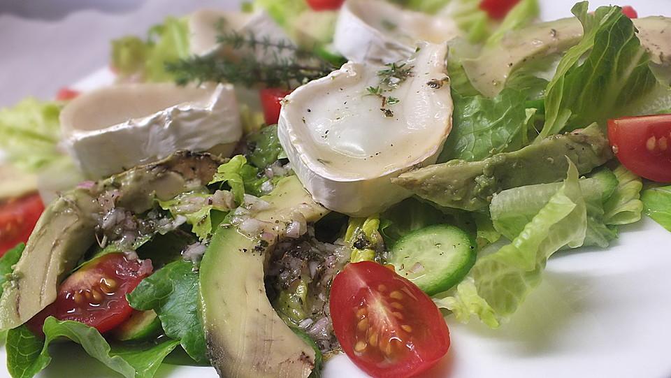 Salat ziegenkase honig balsamico