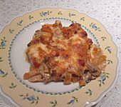 Überbackene Schnitzel in Paprika-Pilzrahm