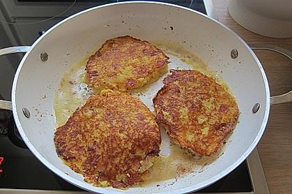 Kartoffel-Schinken-Puffer mit Käse 1