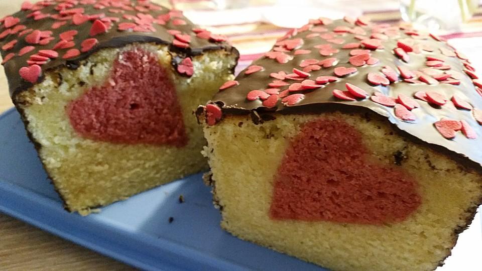 Kuchen mit muster in der mitte