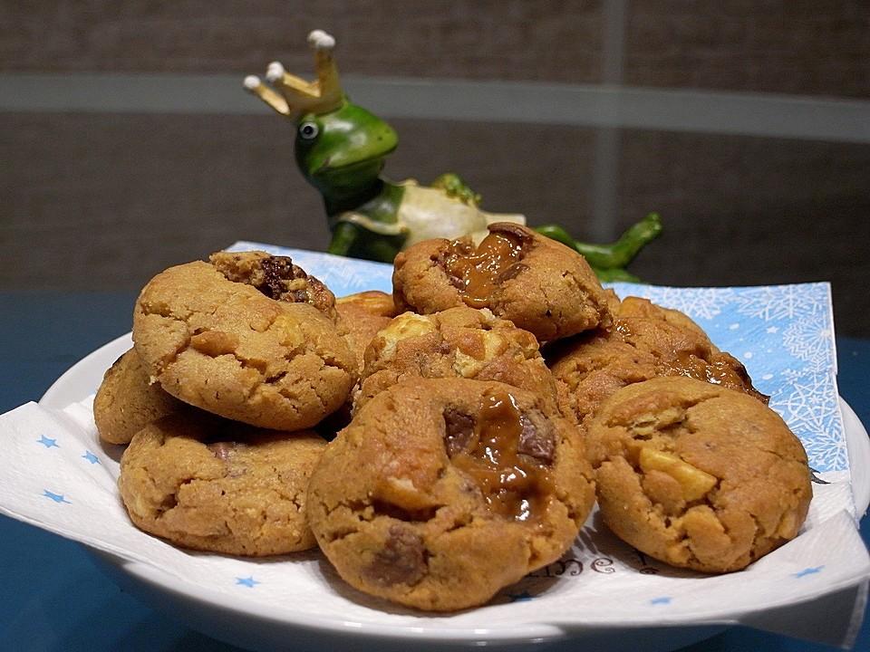 urmelis erdnussbutter cracker karamell schoko cookies von urmeli75. Black Bedroom Furniture Sets. Home Design Ideas