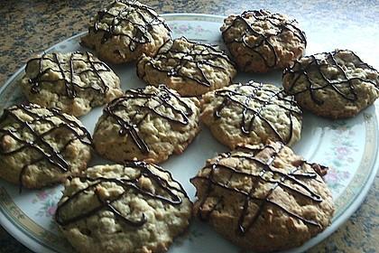 Erdnussbutter-Müsli-Cookies