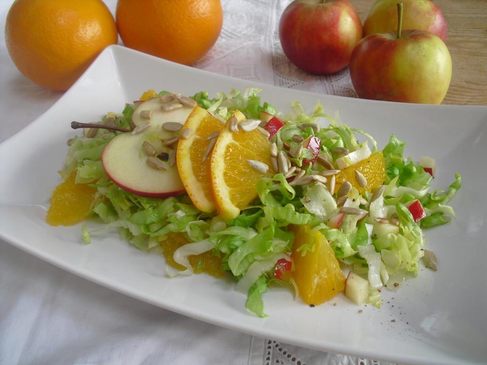 endivien apfel orangen salat mit orangen dressing und sonnenblumenkernen von patty89. Black Bedroom Furniture Sets. Home Design Ideas