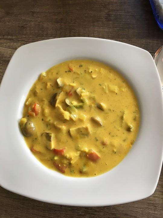 h hnchen curry lauch suppe rezept mit bild von critters99. Black Bedroom Furniture Sets. Home Design Ideas