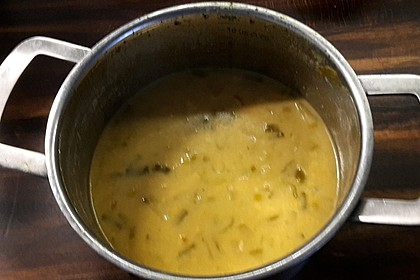 Hähnchen-Curry-Lauch-Suppe 4