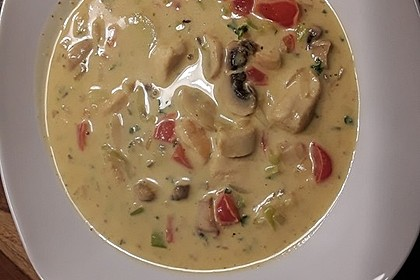 Hähnchen-Curry-Lauch-Suppe 9