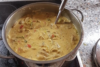 Hähnchen-Curry-Lauch-Suppe 2