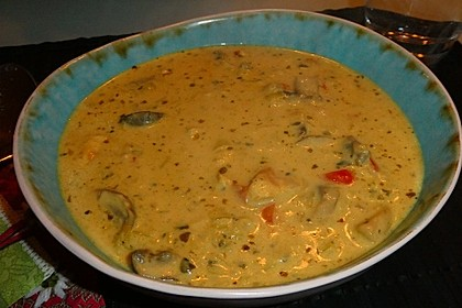 Hähnchen-Curry-Lauch-Suppe 7